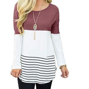 Beautiful woman long sleeve casual top